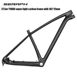 super light new MTB bike 27.5er T800 full carbon frame 142x12 thru axle MTB carbon frame 27.5er 135x9 compatible
