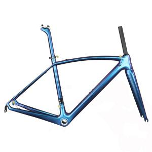 T1000 superlight full carbon road bike frameset with newest chameleon paint