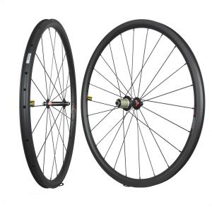30x28mm Tubeless carbon road bike wheels with Novatec hubs for shimano freehubs