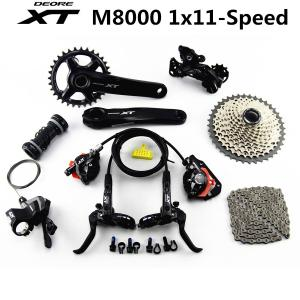 SHIMANO DEORE XT M8000 Groupset 32T 34T 170 175mm Crankset Mountain Bike Groupset 1x11-Speed 40T 42T 46T M8000 Derailleur Brake