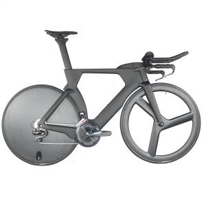 complete carbon TT bike frame with shimano R8060 DI2 groupset disc wheels and 3 spokes wheels