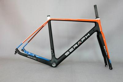 2018 Available Gravel 700C Carbon Bike Frame,SERAPH bikes Thru Axle 142mm Gravel Di2 Carbon Cyclocross Frame Disc GR029