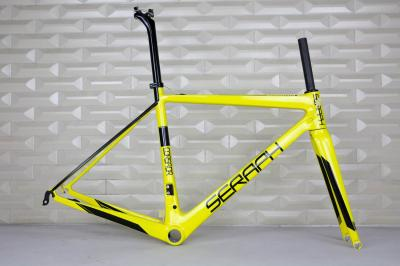 T1000 seraph Road Bike Carbon Fiber Stiff Racing Bicycle Frame+Fork+Seat Post+Clamp Frameset , accept paint carbon frame