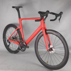 2021 Disc Carbon Road bike all inner cable Complete Bicycle Carbon with SHiMANO R8020 DI2 groupset novatec hubs wheel .