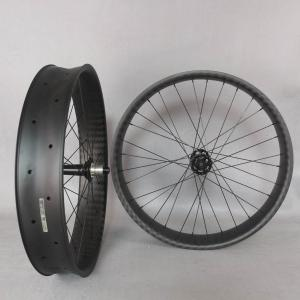 2022 New 26er carbon wheelset fat bike 6 bolt Front 15*150mm Rear 197X12mm 6k twill XD cassette body carbon rims wheels