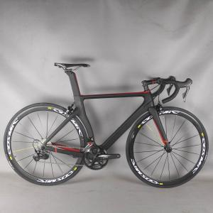 china red color Complete Road Carbon Bike ,Carbon Bike Road Frame with groupset shi R7000 22 speed Road Bicycle Complete bike