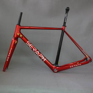 Flat Mount Max Tire 42C China carbon cyclocross disc brake gravel bike frame