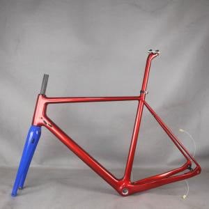 Newest Gravel Bike For Toray Full Carbon Fiber Gravel Bike Frame GR029 Bicycle Metallic red color