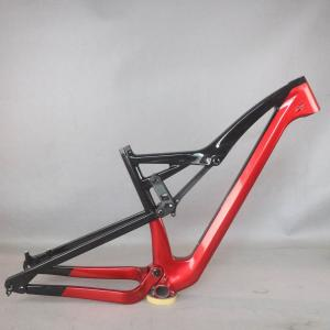 2021 new Full Suspension ALL Mountain bicycle Frame carbon fiber MTB frame FM10 disc brake post accept custom painting