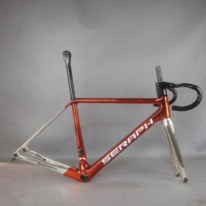 022 Plating gold and plating red all inner cable Disc road carbon frame .bicycle frameset