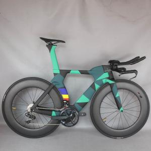 2021 new paint TT Bike TT Bicycle Time Trial Triathlon Carbon Fiber Carbon black color Painting Frame with DI2 R8060 groupset