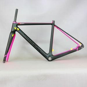 Gravel 700C Carbon Bike Frame,SERAPH bikes Thru Axle 142mm Gravel Di2 Carbon Cyclocross Frame with fork 100*12mm