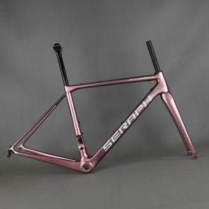 seraph bike carbon road frame FM008 bicycle frame china carbon frame no tax fee cinese bike frame from tantan ROSE color