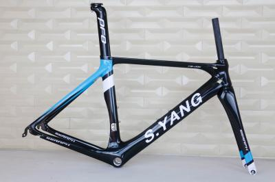 custom painting Road Bicycle Frameset Carbon Bike Frame Fork black matte finish BSA FM268 carbon frame, accept painting